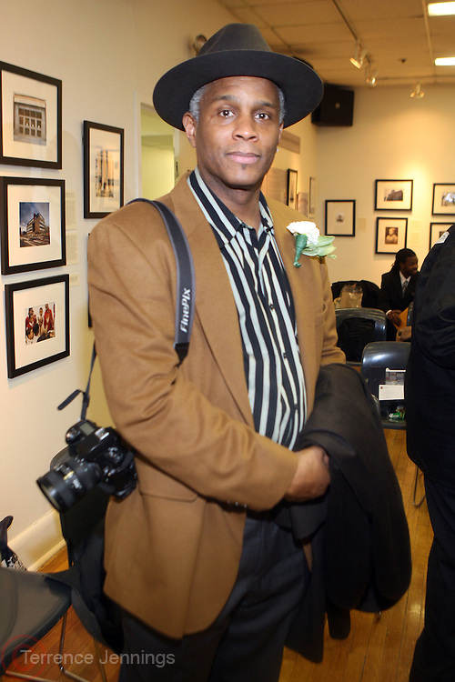 31 January 2011-New York, NY- E.Lee White at The Schomburg Center's Opening of Soulful Stitching and Harlem Views: Diasporian Visions Exhibitions held at the Schomburg Center for Research in Black Culture on January 31, 2011 in Harlem, New York City. Photo credit: Terrence Jennings