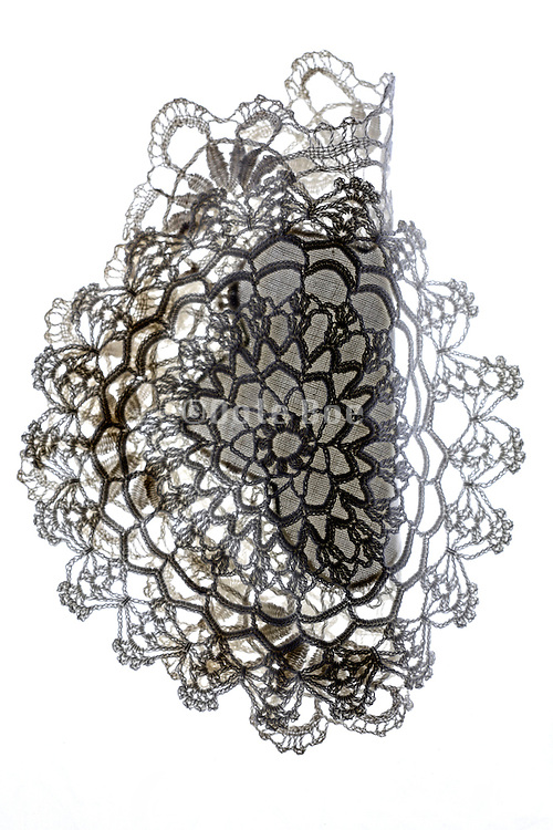 decorative doilies made from lace partly folded