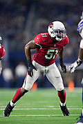ARLINGTON, TX - AUGUST 26:  Gerald Hodges #51 of the Arizona Cardinals at the line of scrimmage during a game against the Dallas Cowboys at AT&T Stadium during week 3 of the preseason on August 26, 2018 in Arlington, Texas.  The Cardinals defeated the Cowboys 27-3.  (Photo by Wesley Hitt/Getty Images) *** Local Caption *** Gerald Hodges