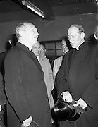 27/06/1958<br /> 06/27/1958<br /> 27 June 1958<br /> <br /> Cardinal Gilroy greeted by Government Buildings