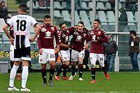 Torino-Udinese - Serie A 2017-18 - 24a giornata - Nella foto: Andrea Belotti abbracciato dai compagni dopo il gol