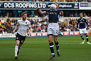 Aiden O'Brien of Millwall chests down the ball during the EFL Sky Bet Championship match between Millwall and Leeds United at The Den, London, England on 16 September 2017. Photo by Toyin Oshodi.