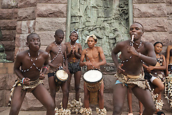 June 3, 2016 - Group of street musicians in traditional clothing, Pretoria, Gauteng, South Africa, Africa (Credit Image: © AGF via ZUMA Press)