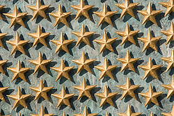 Washington DC; USA: The National World War II Memorial on the Mall. Each star represents 100 soldiers who died..Photo copyright Lee Foster Photo # 7-washdc76075
