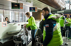 Ziga Jeglic and Rok Ticar during departure of Slovenia Olympic Team for PyeongChang 2018, on February 6, 2018 in Airport Joze Pucnik, Brnik, Slovenia. Photo by Morgan Kristan / Sportida