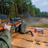 rifle shooting from a bench rest