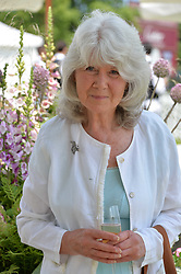 Jilly Cooper at Cartier Queen's Cup Polo, Guard's Polo Club, Berkshire, England. 18 June 2017.<br /> Photo by Dominic O'Neill/SilverHub 0203 174 1069 sales@silverhubmedia.com