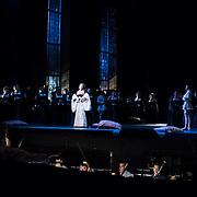 September 23, 2015 - New York, NY : Sondra Radvanovsky, at center left, performs as Anna Bolena in a dress rehearsal for Gaetano Donizetti's 'Anne Bolena' at the Metropolitan Opera at Lincoln Center on Wednesday. CREDIT: Karsten Moran for The New York Times