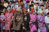 Mongolia. Ulaanbaatar. nadaam, wrestling naadam of Oulan Bator   /  Nadaam dalanzadgad; Desert de Gobi; les spectacteurs assistent au concours de lutte   136      /  P0002709