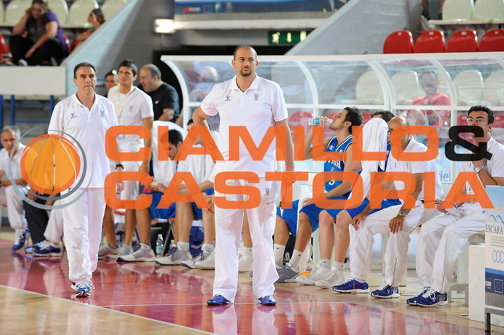 DESCRIZIONE : Teramo Giochi del Mediterraneo 2009 Mediterranean Games Italia Turchia Italy Turkey Preliminary Men<br /> GIOCATORE : Squadra Team Francesco Vitucci<br /> SQUADRA : Nazionale Italiana Maschile<br /> EVENTO : Teramo Giochi del Mediterraneo 2009<br /> GARA : Italia Turchia Italy Turkey<br /> DATA : 30/06/2009<br /> CATEGORIA : ritratto<br /> SPORT : Pallacanestro<br /> AUTORE : Agenzia Ciamillo-Castoria/G.Ciamillo