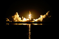 Aug 28, 2009; Titusville, FL USA; STS-128 Discovery launch at Titusville, FL.