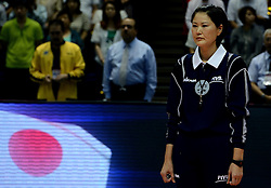 29-08-2013 VOLLEYBALL: WGP FINAL JAPAN - BRAZILIE: SAPPORO<br /> Brazilie verslat Japan met 3-0 / Referee Ms. Joo-Hee Kang (KOR)<br /> ©2013-FotoHoogendoorn.nl