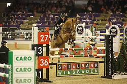 Hellström, Wilma Charlotte, Cillarney<br /> Frankfurt - Festhallen Reitturnier 2014<br /> Qualifikation Youngster Tour<br /> © www.sportfotos-lafrentz.de/ Stefan Lafrentz