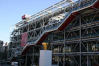 Outside the George Pompidou Centre Paris France<br />