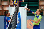 Katowice, Poland - 2017 September 03: (R) Athlete  Yaroslav Kovalenko from SO Russia spikes the ball while final match between SO Russia and SO Finland during European Unified Volleyball Tournament 2017 at Spodek Hall on September 03, 2017 in Katowice, Poland.<br /> <br /> Adam Nurkiewicz declares that he has no rights to the image of people at the photographs of his authorship.<br /> <br /> Picture also available in RAW (NEF) or TIFF format on special request.<br /> <br /> Any editorial, commercial or promotional use requires written permission from the author of image.<br /> <br /> Image can be used in the press when the method of use and the signature does not hurt people on the picture.<br /> <br /> Mandatory credit:<br /> Photo by © Adam Nurkiewicz / Mediasport