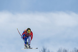 February 15, 2018 - Jeongseon, Gangwon, South Korea - Adrien Theaux of France competing in mens downhill at Jeongseon Alpine Centre at Jeongseon , South Korea on February 15, 2018. (Credit Image: © Ulrik Pedersen/NurPhoto via ZUMA Press)