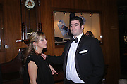 Evie Dalton and Zafar Rushdie. Conde Nast Traveller Tsunami Appeal dinner. Four Seasons  Hotel. Hamilton Place, London W1. 2 March 2005. ONE TIME USE ONLY - DO NOT ARCHIVE  © Copyright Photograph by Dafydd Jones 66 Stockwell Park Rd. London SW9 0DA Tel 020 7733 0108 www.dafjones.com