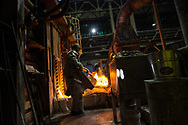 Metal worker at Hussey Copper in Leetsdale, PA on August 8, 2015
