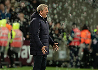 Football - 2018 / 2019 Premier League - West Ham United vs. Crystal Palace<br /> <br /> Roy Hodgson, Manager of Crystal Palace, berates his team at the final whistle at the London Stadium<br /> <br /> COLORSPORT/DANIEL BEARHAM