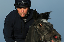 23rd November 2017 - Michael Owen Horse Racing - Former footballer Michael Owen takes to the gallops at Manor House Stables in Cheshire ahead of his first ever race as a jockey - Photo: Simon Stacpoole / Offside.