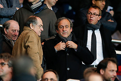 UEFA President Michel Platini looks on - Photo mandatory by-line: Rogan Thomson/JMP - 07966 386802 - 17/02/2015 - SPORT - FOOTBALL - Paris, France - Parc des Princes - Paris Saint-Germain v Chelsea - UEFA Champions League, Last 16, First Leg.