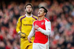 Alexis Sanchez of Arsenal - Photo mandatory by-line: Rogan Thomson/JMP - 07966 386802 - 15/02/2015 - SPORT - FOOTBALL - London, England - Emirates Stadium - Arsenal v Middlesbrough - FA Cup Fifth Round Proper.