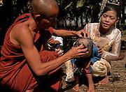 Noviation ceremony, Patheingyi township village near Mandalay, Burma