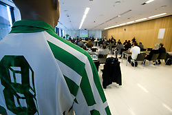 Old Jersey of Slovene National team at General Assembly of Slovenian Football Federation NZS due to it's 90-years Anniversary , on April 24, 2010, in Kongresni center Brdo, Brdo pri Kranju, Slovenia. (Photo by Vid Ponikvar / Sportida)