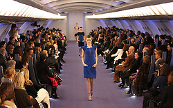 Chanel Haute Couture show catwalk in Paris  styled on the inside of a private jet , Tuesday 24th January 2012.  Photo by: Stephen Lock / i-Images