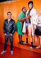 """amsterdam - Sacha Baron Cohen geeft iedereen gratis te drinken  aan de cafegasten borat in amsterdams cafe de Heuveltje op de prinsesgracht in Amsterdam rode loper van Sacha Baron Cohen borat in de pathe bisocoop amsterdam arena voor zijn nieuwe film Grimsby . copyright robin utrecht AMSTERDAM - Actor Sacha Baron Cohen poses during a photocall for the film """"Grimsby"""" (Grimsby: Agent trop special) in AMSTERDAM copyright robin utrecht"""