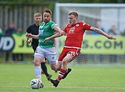 RHOSYMEDRE, WALES - Sunday, May 5, 2019: Connah's Quay Nomads' Jamie Insall (R) and The New Saints' Jon Routledge during the FAW JD Welsh Cup Final between Connah's Quay Nomads FC and The New Saints FC at The Rock. (Pic by David Rawcliffe/Propaganda)