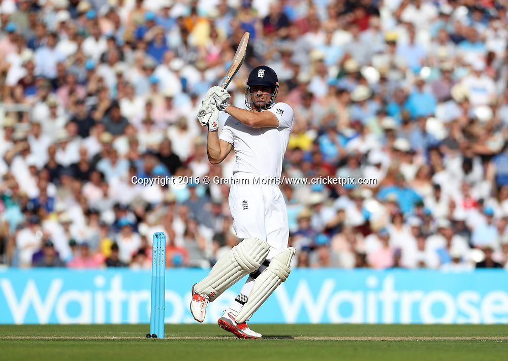 Alastair Cook bats during the 4th Investec Test Match between England and Pakistan at the Kia Oval. Photo: Graham Morris/www.cricketpix.com (Tel:+44(0)20 8969 4192; Email: graham@cricketpix.com) 13/08/2016