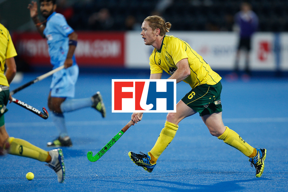 LONDON, ENGLAND - JUNE 17:  Matt Dawson of Australia carries the ball during the FIH Men's Hero Hockey Champions Trophy 2016 final between Australia and India at Queen Elizabeth Olympic Park on June 17, 2016 in London, England.  (Photo by Joel Ford/Getty Images)