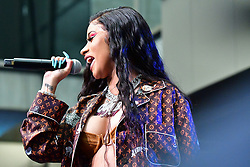 Cardi B performs at MICHAEL RUBIN'S FANATICS SUPER BOWL PARTY at the College Football Hall of Fame on February 2, 2019 the day before the Superbowl in Atlanta, GA. Photo by Dana Mixer. 02 Feb 2019 Pictured: Cardi B performs at MICHAEL RUBIN'S FANATICS SUPER BOWL PARTY at the College Football Hall of Fame on February 2, 2019 the day before the Superbowl in Atlanta, GA. Photo by Dana Mixer. Photo credit: Dana Mixer / MEGA TheMegaAgency.com +1 888 505 6342
