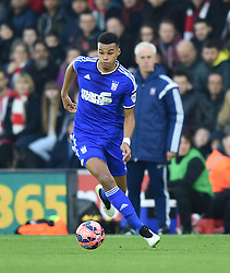 Ipswich Town's Tyrone Mings in action against Southampton - Photo mandatory by-line: Paul Knight/JMP - Mobile: 07966 386802 - 04/01/2015 - SPORT - Football - Southampton - St Mary's Stadium - Southampton v Ipswich Town - FA Cup Third Round