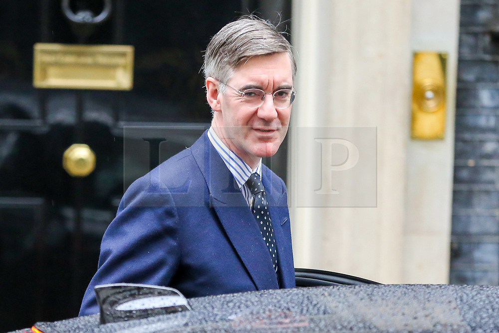 © Licensed to London News Pictures. 21/10/2019. London, UK. Leader of The House of Commons JACOB REES-MOGG departs from No 10 Downing Street. Photo credit: Dinendra Haria/LNP