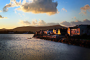 Dingle harbour, County Kerry, on the west coast of Ireland, home of the famed dolphin Fungi..In 1984, the lone dolphin was observed escorting the fishing boats. The fishermen named him Fungi. Within months, he had become such a fixture that local officials declared him a permanent resident. .For more than 20 years, Fungi has stayed in the harbour and befriending humans, becoming one of Ireland's top attractions..Every summer, Dingle town?s 3,000 inhabitants are overrun by tourists, who have come to see Fungi on boat trips..Fungi, a male bottlenose, is around 30 years old. He weighs about 250 kilos and is about four metres in length. .