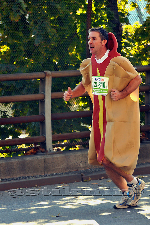 Hot dog in NYC Marathon