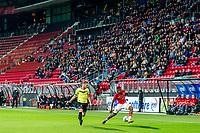 ALKMAAR - 12-09-2017, Jong AZ - Telstar, AFAS Stadion, 2-2, Telstar speler Toinme van Huizen, Jong AZ speler Fred Friday