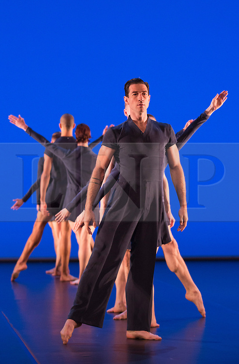 © Licensed to London News Pictures. 17/10/2012. London, England. Jonathan Ollivier at front. Barbican Artistic Associate Michael Clark Company return to the Barbican Theatre from 17 to 27 October 2012 with a double bill of new work choreographed to music by Scritti Politti and Relaxed Muscle.  Photo credit: Bettina Strenske/LNP