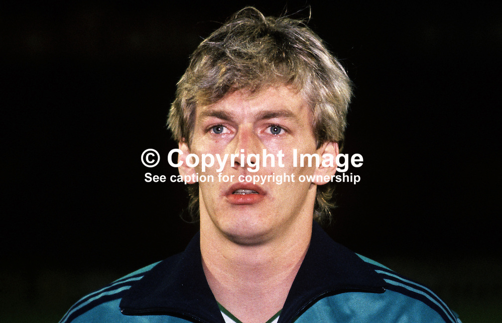 Alan McDonald, footballer, Queen's Park Rangers FC & N Ireland, 19860308AMD.<br />