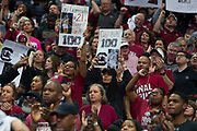 South Carolina Gamecocks fans cheer for their team against the Mississippi State Lady Bulldogs during the NCAA Women's Championship game at the American Airlines Center in Dallas, Texas on April 2, 2017.  (Cooper Neill for The Players Tribune)