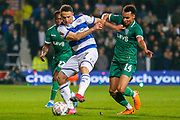 Queens Park Rangers midfielder Marc Pugh (7) battles for possession with Sheffield Wednesday midfielder Jacob Murphy (14) during the The FA Cup match between Queens Park Rangers and Sheffield Wednesday at the Kiyan Prince Foundation Stadium, London, England on 24 January 2020.