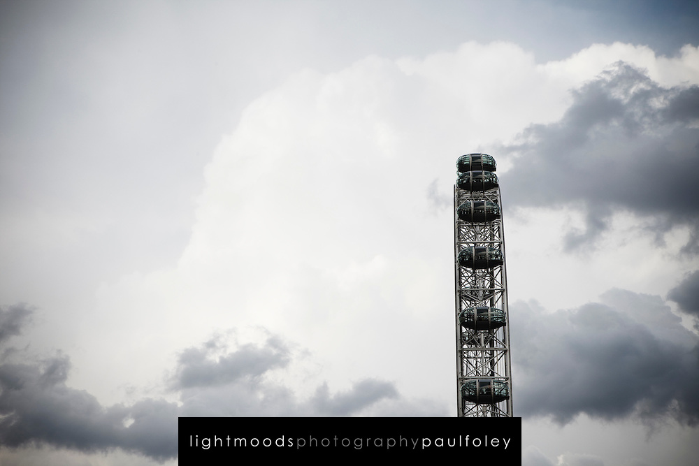 The London Eye wheel beside the River Thames London, England,