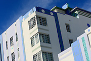 An Art Deco building is complimented by a blue sky along Ocean Drive in Miami Beach, Florida. Colin Braley/Photo