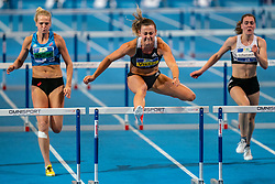 Nadine Visser win the 60 meter hurdles during the Dutch Indoor Athletics Championship on February 23, 2020 in Omnisport De Voorwaarts, Apeldoorn