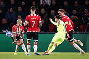 Barcelona player Lionel Messi (r) scoring the 0-1 during the UEFA Champions League, Group B football match between PSV Eindhoven and FC Barcelona on November 28, 2018 at Philips Stadium in Eindhoven, Netherlands - Photo Joep Leenen / Pro Shots / ProSportsImages / DPPI