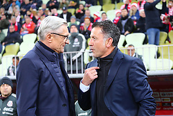 November 13, 2017 - Gdansk, Poland - Coach Adam Nawalka and Coach Juan Carlos Osorio during the international friendly soccer match between Poland and Mexico at the Energa Stadium in Gdansk, Poland on 13 November 2017  (Credit Image: © Mateusz Wlodarczyk/NurPhoto via ZUMA Press)