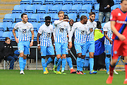 GOAL celebrations Daniel Agyei 1-0 Coventry during the EFL Sky Bet League 1 match between Coventry City and Rochdale at the Ricoh Arena, Coventry, England on 22 October 2016. Photo by Daniel Youngs.