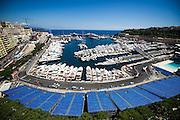 May 20-24, 2015: Monaco Grand Prix - Wide view of the Monaco harbor and track.